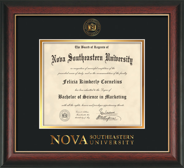 Nova Southeastern University Seal Single Opening