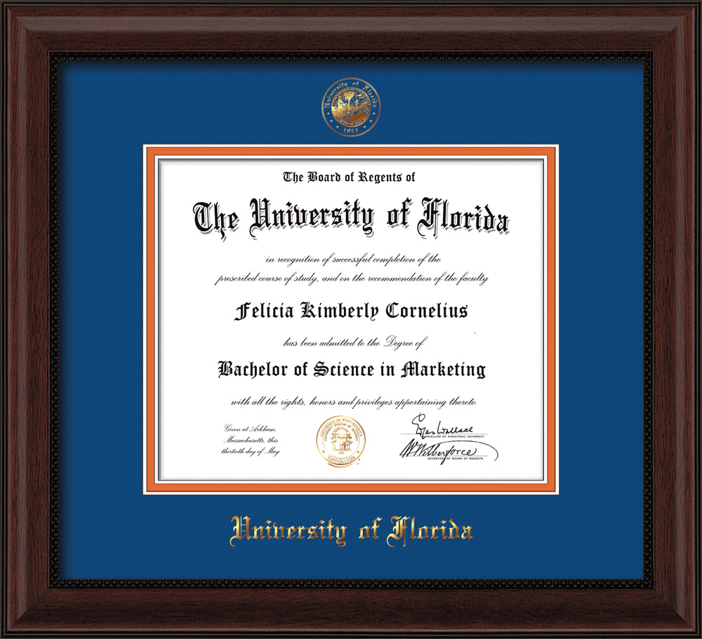 University of Florida Seal Single Opening