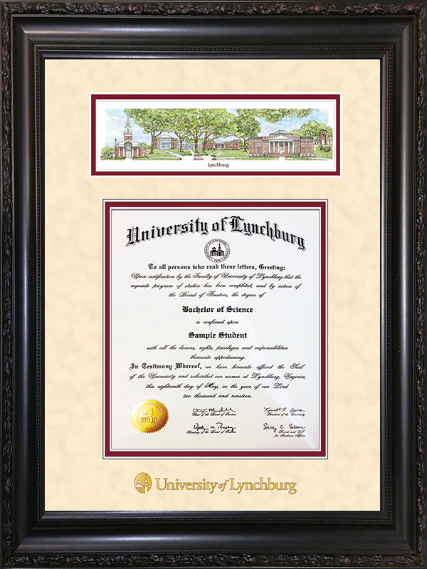 University of Lynchburg Diploma Frames