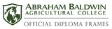 ABAC diploma frames and displays logo