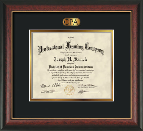 Cpa Acounting Embossing On Custom Certificate And Diploma