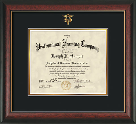 DNP embossing on custom certificate and diploma frames - Official ...