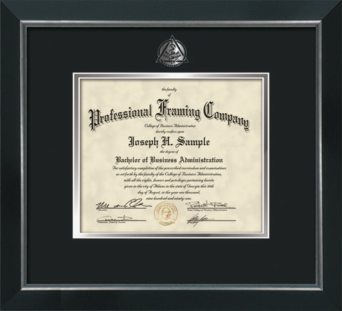 Silver Dentistry embossing for Dental degree onto document, diploma or certificate frame