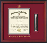 USC - University of South Carolina diploma frame with graduation tassel holder