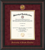 USC diploma frames with medallion
