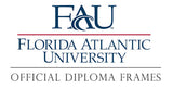 FAU diploma frames and graduation displays