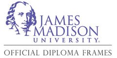 James Madison University diploma frames logo