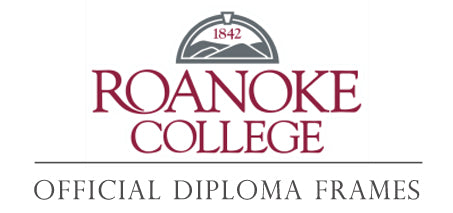 Roanoke College diploma frame page