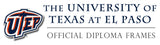 University of Texas at El Paso diploma framing and displays