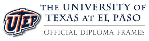 UTEP diploma frame collection