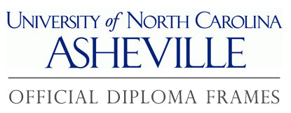 University of North Carolina at Asheville diploma frame page
