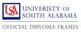 University of South Alabama diploma frame collection logo