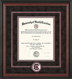USC - University of South Carolina diploma frames with Gamecock logo recessed into mat