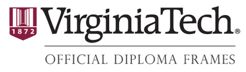Virginia Tech diploma frame logo