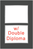 Kennesaw State University diploma frames for double diploma