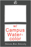 View all RC diploma frames with campus watercolor