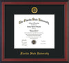 Image of Florida State University Diploma Frame - Cherry Reverse - w/Embossed FSU Seal & Name - Single Black mat