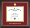 Image of Florida State University Diploma Frame - Rosewood w/Gold Lip - w/24k Gold-Plated Medallion FSU Name Embossing - Garnet on Gold mats