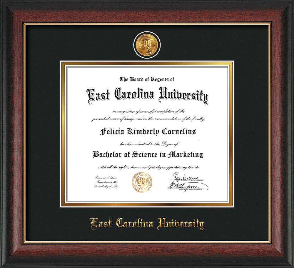 Image Of East Carolina University Diploma Frame