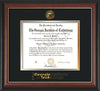 Image of Georgia Tech Diploma Frame - Rosewood w/Gold Lip - w/Embossed Seal & Wordmark - Black on Gold Mat