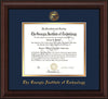 Image of Georgia Tech Diploma Frame - Mahogany Bead - w/Embossed Seal & Name - Navy on Gold mat