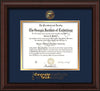 Image of Georgia Tech Diploma Frame - Mahogany Bead - w/Embossed Seal & Wordmark - Navy on Gold Mat