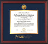 Image of Georgia Tech Diploma Frame - Cherry Reverse - w/24k Gold Plated Medallion GT Wordmark Embossing - Navy on Gold Mat
