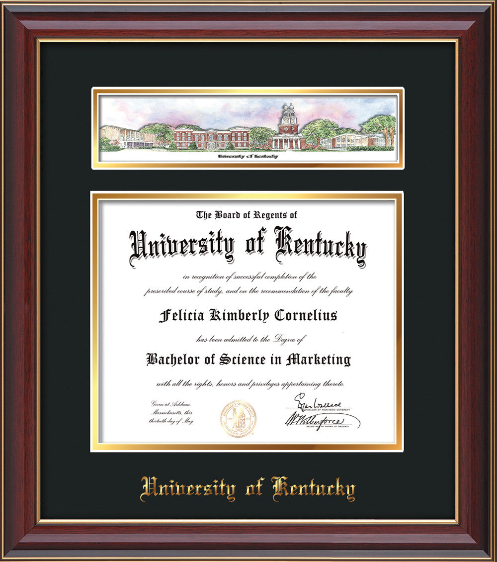 University of Kentucky Diploma Frame- Cherry Lacquer -Collage ...