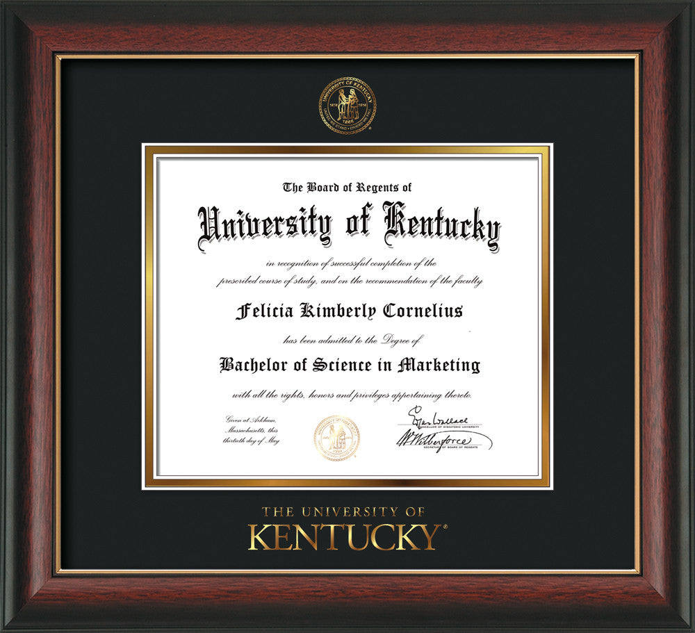 Beautiful University Of Kentucky Diploma Frame Composition - Ideas ...
