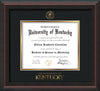 Image of University of Kentucky Diploma Frame - Mahogany Braid - w/Embossed Seal & Wordmark - Black on Gold mat