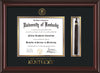 Image of University of Kentucky Diploma Frame - Mahogany Lacquer - w/Embossed Seal & Wordmark - Tassel Holder - Black on Gold mat