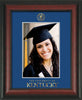 Image of University of Kentucky 5 x 7 Photo Frame - Rosewood - w/Official Embossing of UKy Seal & Wordmark - Single Royal Blue mat