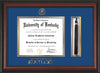 Image of University of Kentucky Diploma Frame - Rosewood - w/Embossed Seal & Wordmark - Tassel Holder - Royal Blue on Gold mat