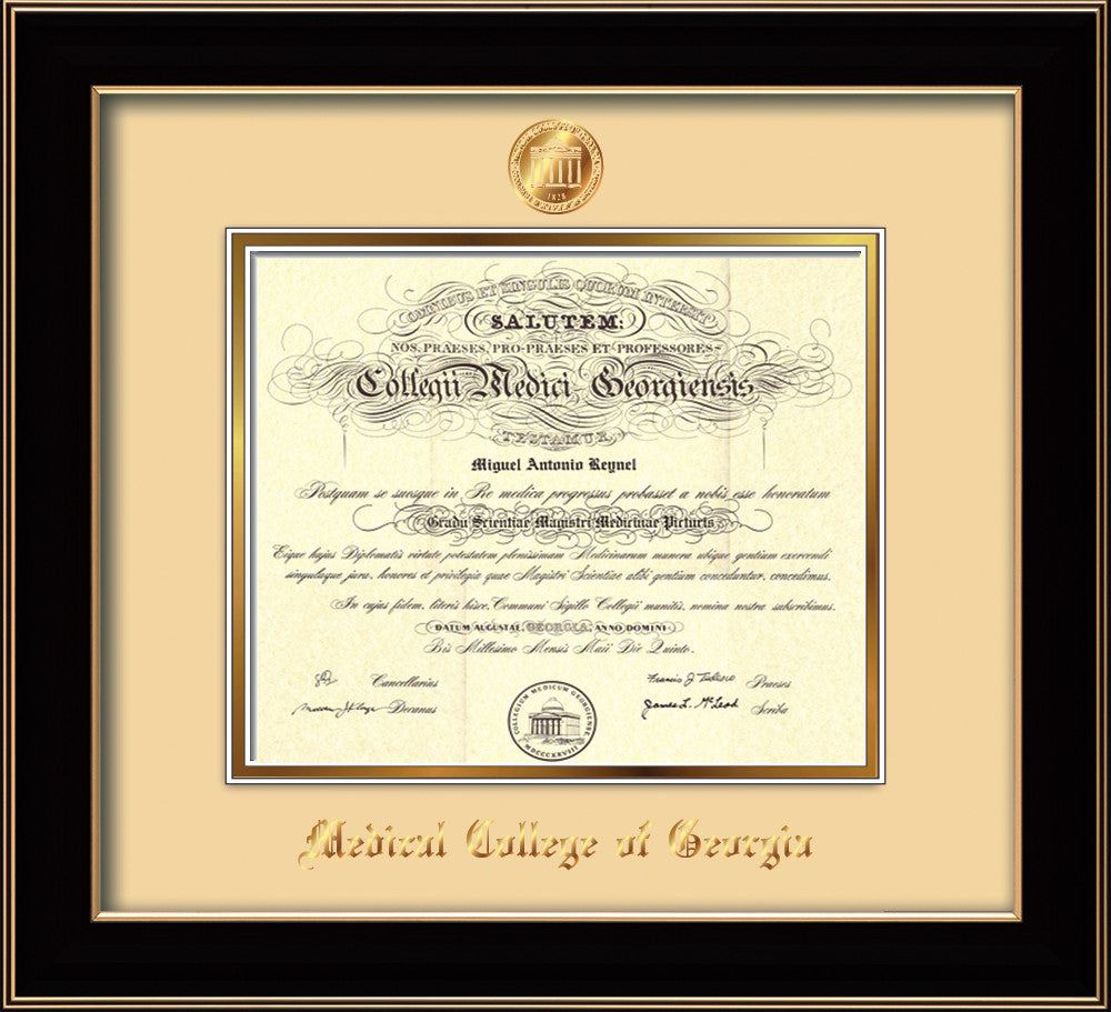 Medical College Of Georgia Diploma Frame Cherry Lacquer