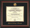 Image of Medical College of Georgia Diploma Frame - Rosewood w/Gold Lip - w/24k Gold-Plated Medallion - Black on Gold mat