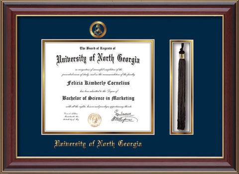 U of North Georgia Diploma Frame-Che Lacquer-Military-Tassel-Navy ...