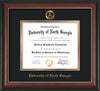 Image of University of North Georgia Diploma Frame - Rosewood w/Gold Lip - w/Embossed Military Seal & UNG Name - Black on Gold mat