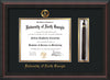 Image of University of North Georgia Diploma Frame - Mahogany Braid - w/Embossed Military Seal & UNG Name - Tassel Holder - Black on Gold mat
