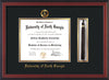 Image of University of North Georgia Diploma Frame - Cherry Reverse - w/Embossed Military Seal & UNG Name - Tassel Holder - Black on Gold mat