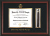 Image of University of North Georgia Diploma Frame - Rosewood - w/Embossed Military Seal & UNG Name - Tassel Holder - Black on Gold mat
