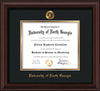 Image of University of North Georgia Diploma Frame - Mahogany Bead - w/Embossed UNG Seal & Name - Black on Gold mat