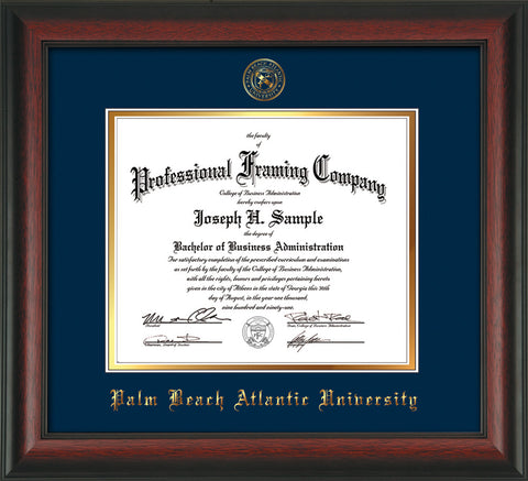 Palm Beach Atlantic University Diploma Frames - Custom PBA embossing ...