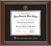 Image of Pasco-Hernando State College Diploma Frame - Cherry Lacquer - w/Embossed PHSC Seal & Name - Black on Gold mat