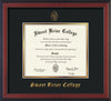 Image of Sweet Briar College Diploma Frame - Cherry Reverse - w/Embossed SBC Seal & Name - Black on Gold mat