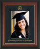 Image of University of Texas - Arlington 5 x 7 Photo Frame - Rosewood w/Gold Lip - w/Official Embossing of UTA Seal & Name - Single Black mat