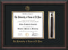 Image of University of Texas - El Paso Diploma Frame - Mahogany Braid - w/UTEP Embossed Seal & Name - Tassel Holder - Black on Gold mat