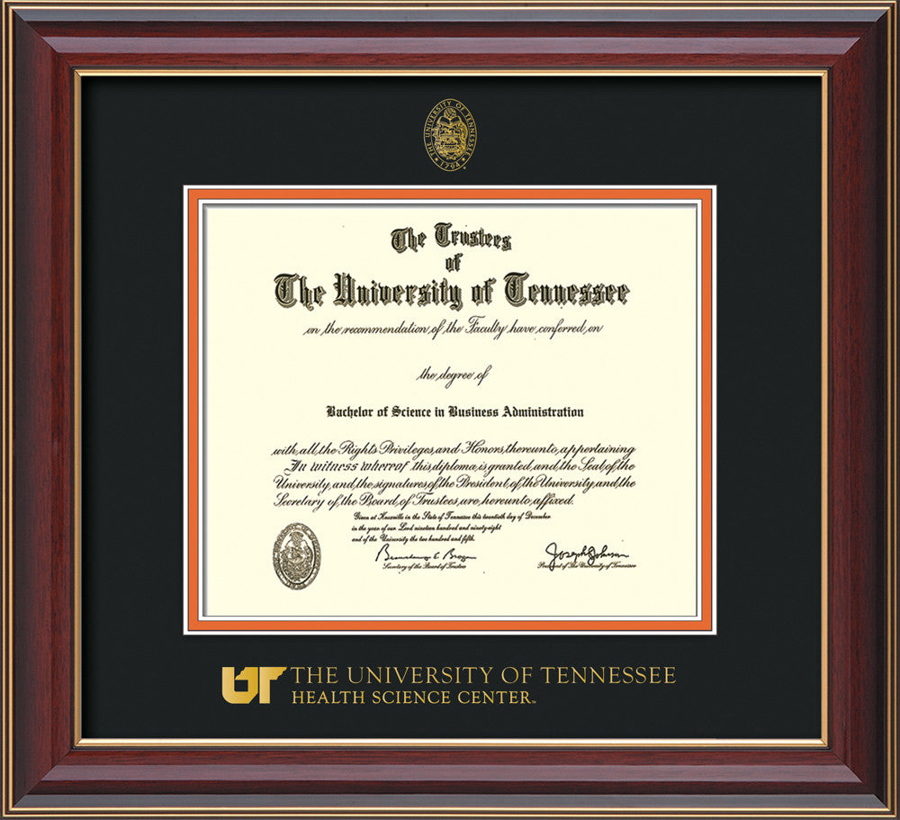 U of Tennessee Health Diploma Frame-Ch Lacquer-UTHSC Seal-Black ...