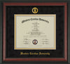 Image of Western Carolina University Diploma Frame - Rosewood - w/Embossed Seal & Name - Black Suede on Gold mats