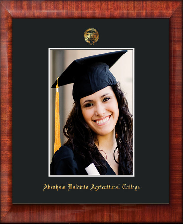 Image of Abraham Baldwin Agricultural College 5 x 7 Photo Frame - Mezzo Gloss - w/Official Embossing of ABAC Seal & Name - Single Black mat