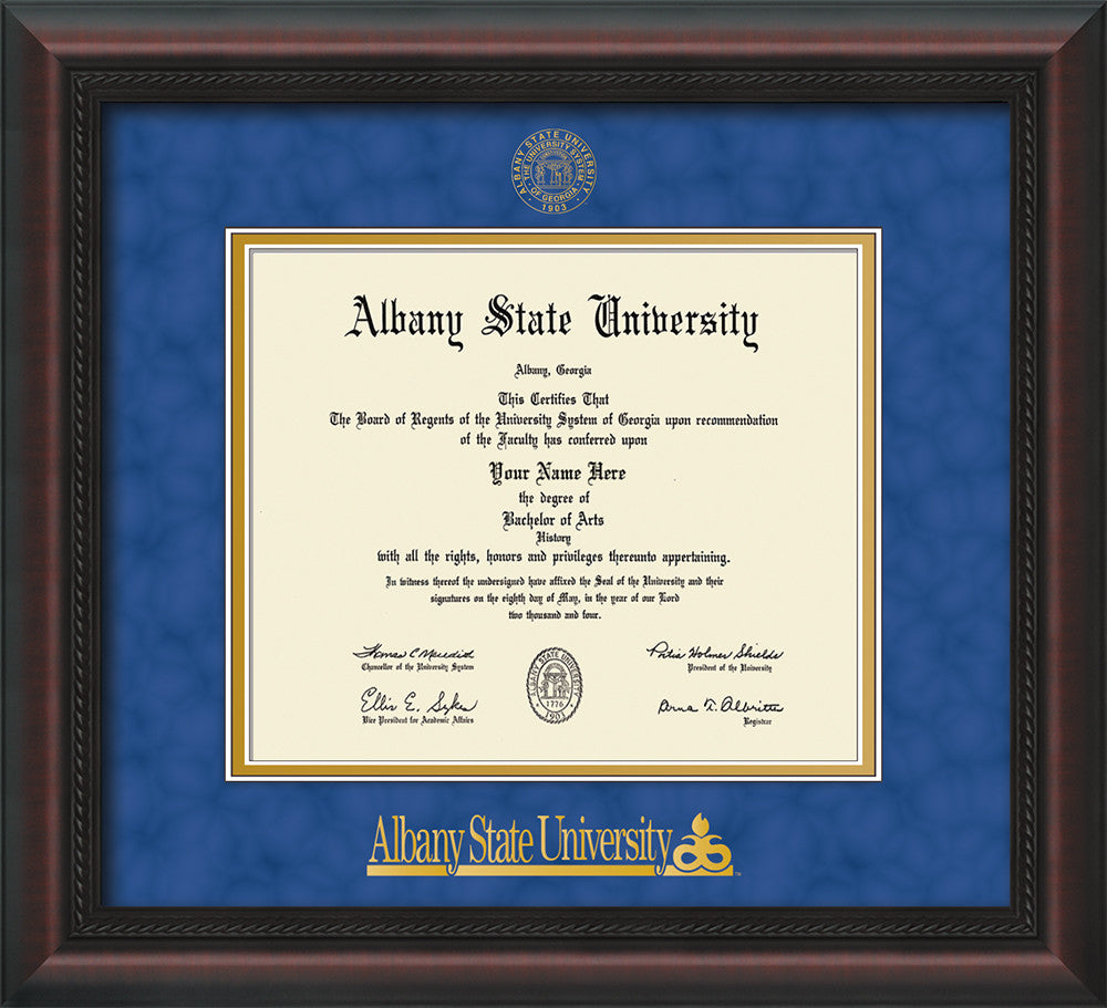 Albany State University Diploma Frame-Cherry Lacquer-w/Albany Seal ...
